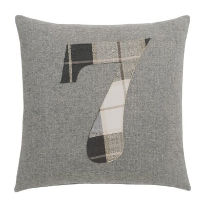 Digits 7 Cotton Throw Pillow