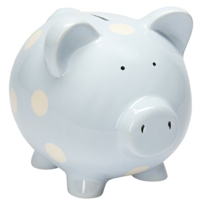 Classic Ceramic Piggy Bank Color: Blue