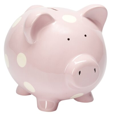 Classic Ceramic Piggy Bank Color: Pink