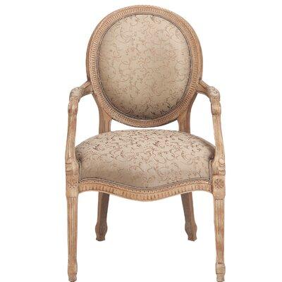 Calais Arm Chair Nailhead Detail Pewter