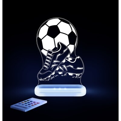 Aloka Starlights LED Soccer Ball and Shoes Night Light with Remote Control