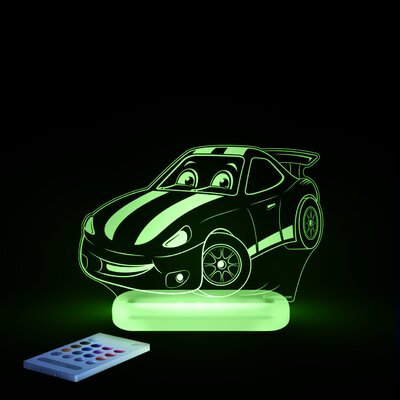 Aloka Starlight Race Car LED 3-Light Night Light with Remote Control