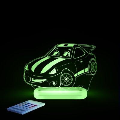 Aloka Starlight Race Car LED 3-Light Night Light with Remote Control