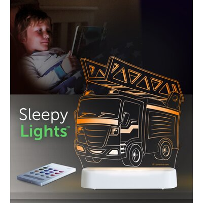 Aloka Starlights LED Fire Truck Night Light with Remote Control