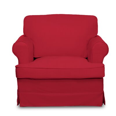 Spencer Arm Chair Upholstery: Red