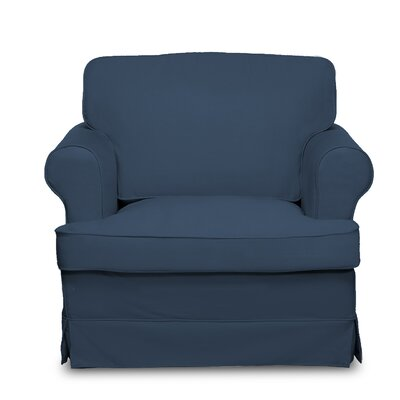 Spencer Arm Chair Upholstery: Harbor Blue
