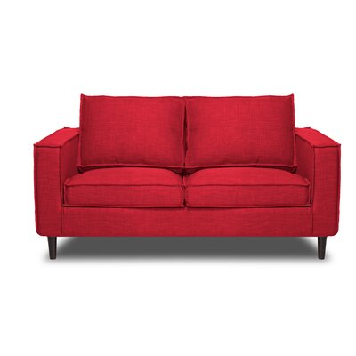 Parlour Loveseat Color: Red