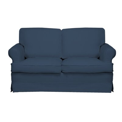Spencer Loveseat Color: Harbor Blue