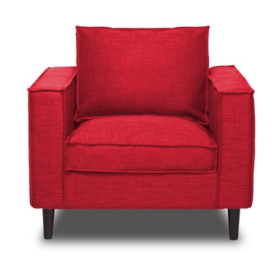 Parlour Arm Chair Upholstery: Red