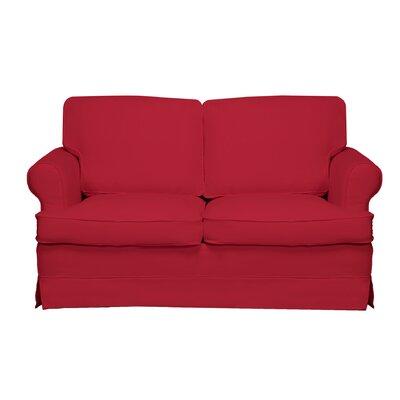 Spencer Loveseat Color: Red