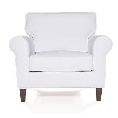 Walton Arm Chair Upholstery: White