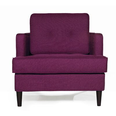 Durham Arm Chair Upholstery: Plum