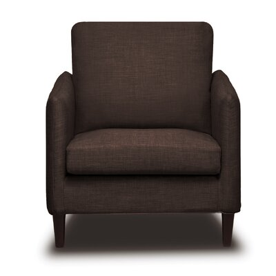 Crosby Arm Chair Color: Coffee