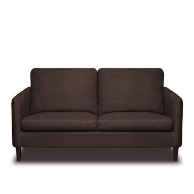 Crosby Loveseat Color: Coffee