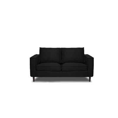 Parlour Loveseat Color: Black