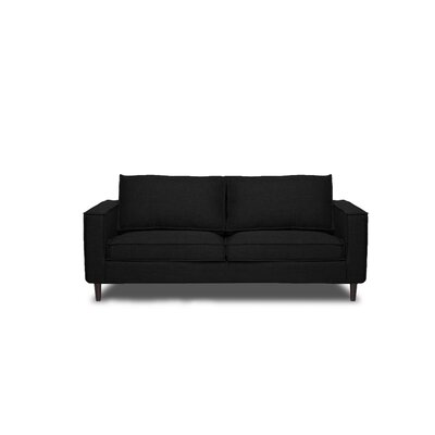 Parlour Sofa Upholstery: Black