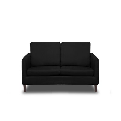 Crosby Loveseat Upholstery: Black