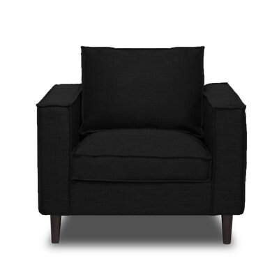 Parlour Arm Chair Upholstery: Black