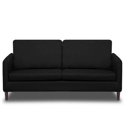 Crosby Sofa Upholstery: Black
