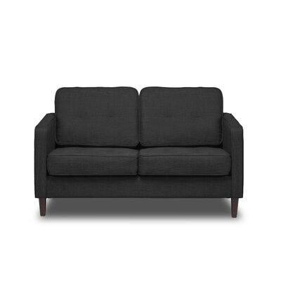 Franklin Loveseat Upholstery: Charcoal