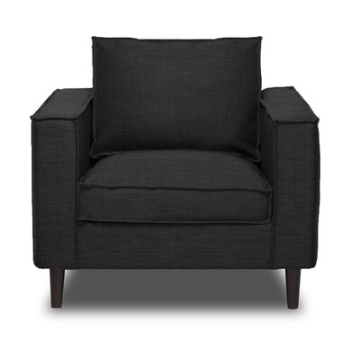 Parlour Arm Chair Upholstery: Charcoal