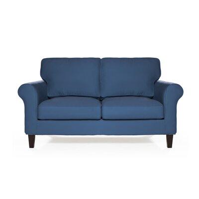 Walton Loveseat Upholstery: Harbor Blue
