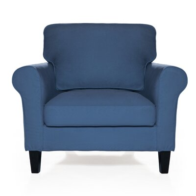 Walton Arm Chair Upholstery: Harbor Blue