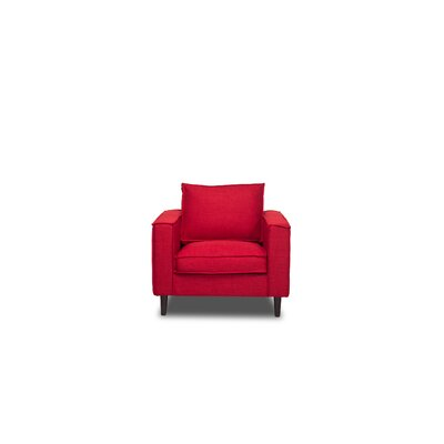 Parlour Armchair Upholstery: Red