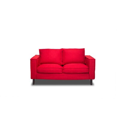 Harlowton Loveseat Upholstery: Red