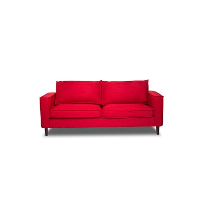 Harlowton Sofa Upholstery: Red