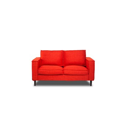 Parlour Loveseat Color: Safron