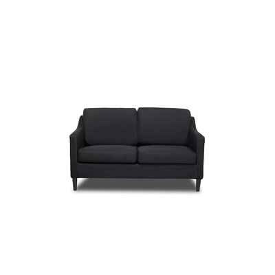 Decker Loveseat Upholstery: Black