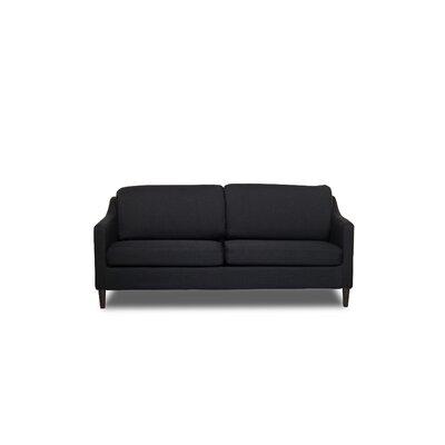 Decker Sofa Upholstery: Black