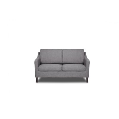 Decker Loveseat Upholstery: Flannel Grey