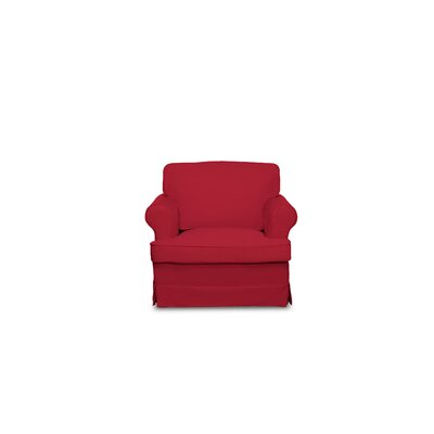 Spencer Armchair Upholstery: Red