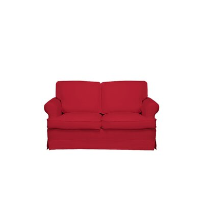 Spencer Loveseat Upholstery: Red