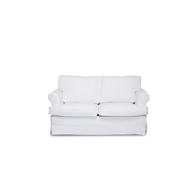 Spencer Loveseat Upholstery: White