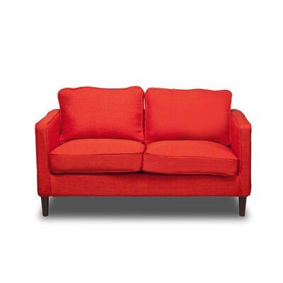 Hamilton Loveseat Upholstery: Safron