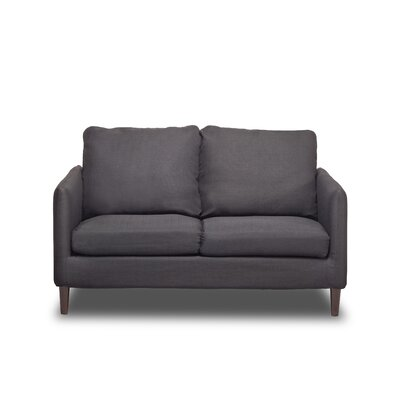 Crosby Loveseat Upholstery: Charcoal