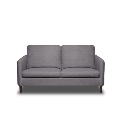 Crosby Loveseat Color: Flannel Grey