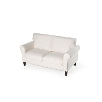 Walton Loveseat Upholstery: Cream