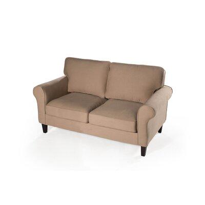 Walton Loveseat Upholstery: Khaki