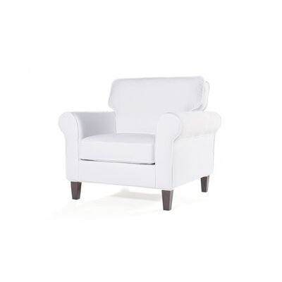 Walton Armchair Upholstery: White