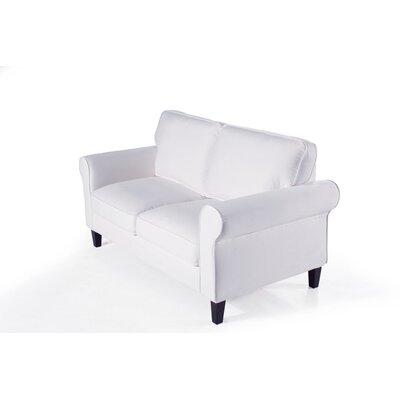 Walton Loveseat Upholstery: White