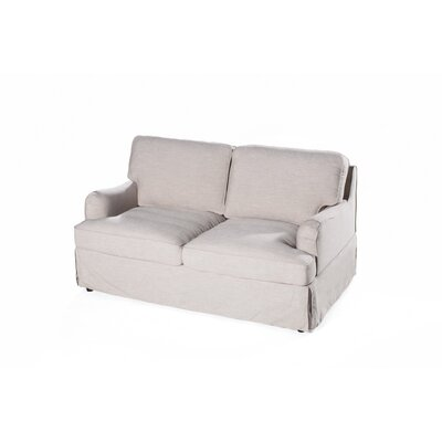 Delaney Loveseat Upholstery: Cornstarch