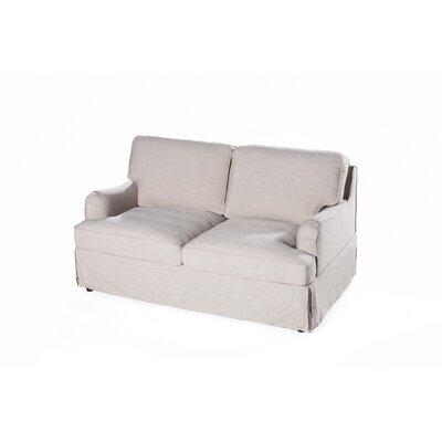 Delaney Loveseat Upholstery: Cornstarch