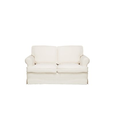 Spencer Loveseat Upholstery: Cream