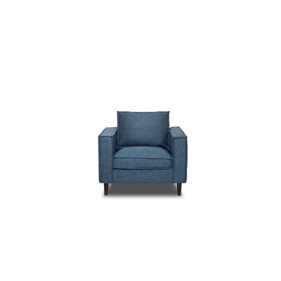Parlour Armchair Upholstery: Aqua