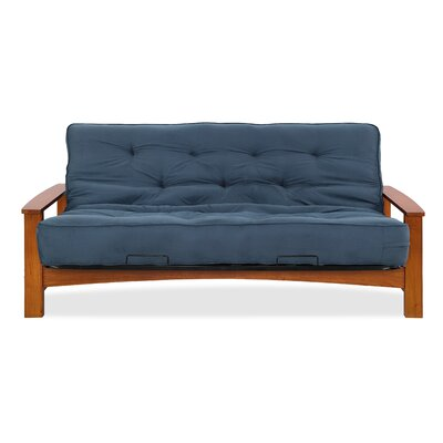 Vancouver Futon and Mattress Color: Mid-Night Blue Microfiber