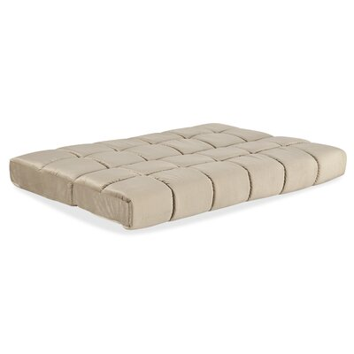 8 Innerspring Full Size Futon Mattress Color: Biscuit